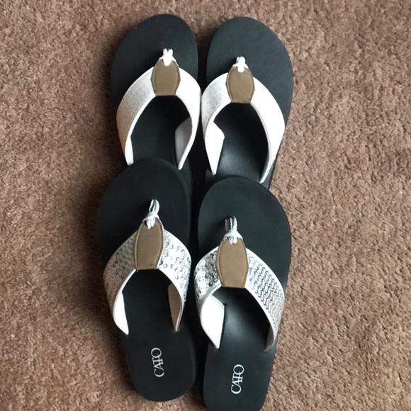 662e9399e Cato Shoes - Bundle of Cato Sequin Flip Flops